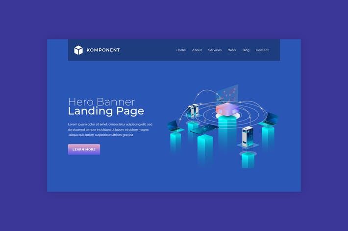 Thumbnail for Komponent - Business Landing Page Banner