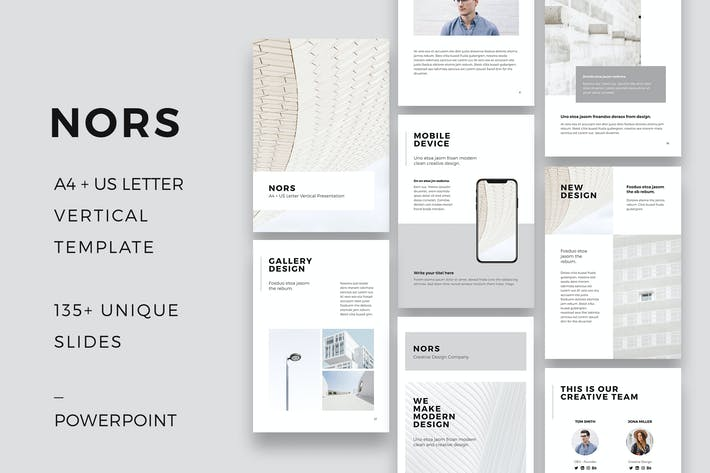 Thumbnail for NORS Vertical Powerpoint A4 US Letter Template