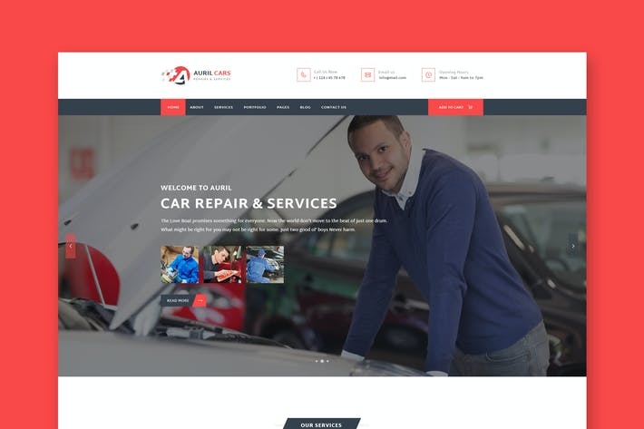 Thumbnail for Auril - Car Mechanic Workshop HTML Template