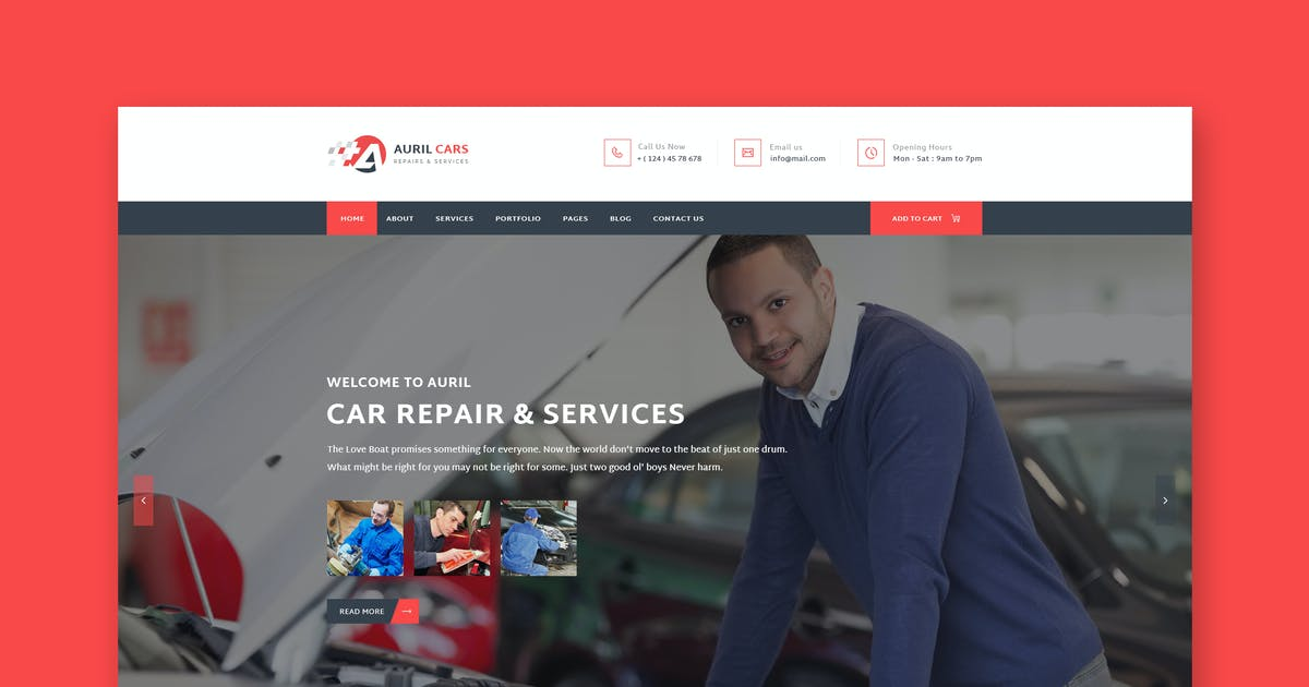 Download Auril - Car Mechanic Workshop HTML Template by PremiumLayers