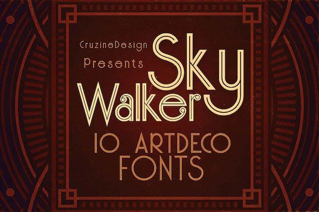 Skywalker - ArtDeco Typeface - product preview 0