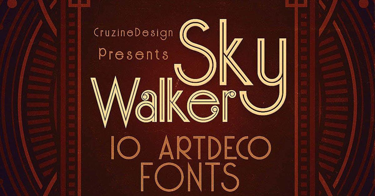 Skywalker - ArtDeco Typeface by cruzine