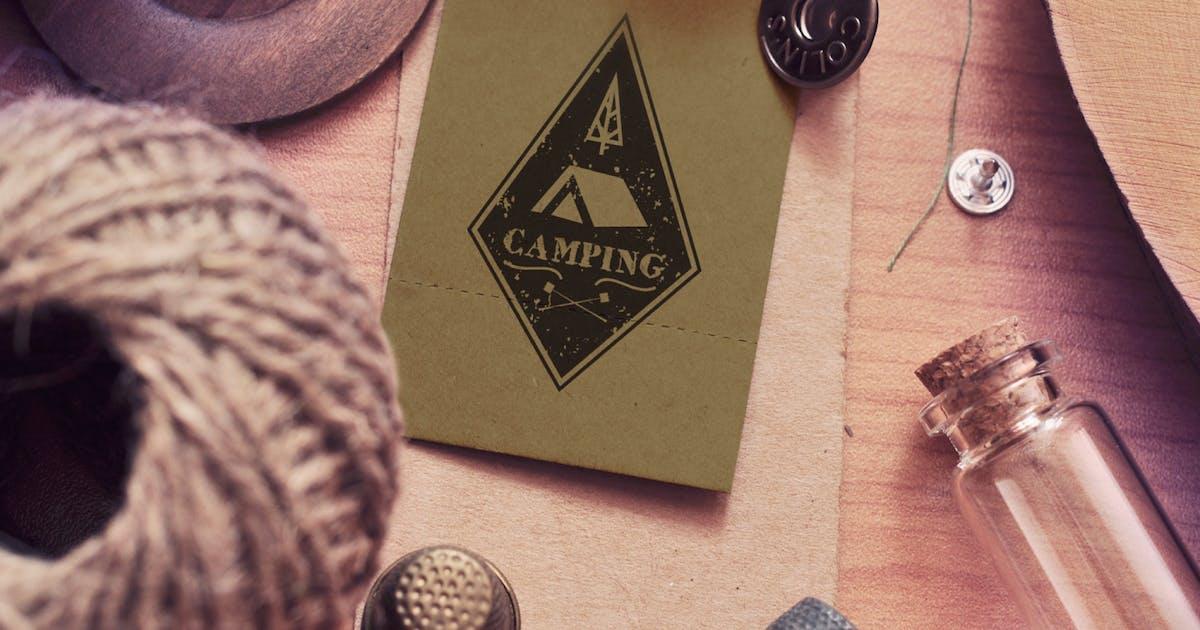 Vintage Camping Logo Template / Retro Travel Badge by JeksonJS