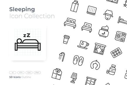 Sleeping Outline Icon