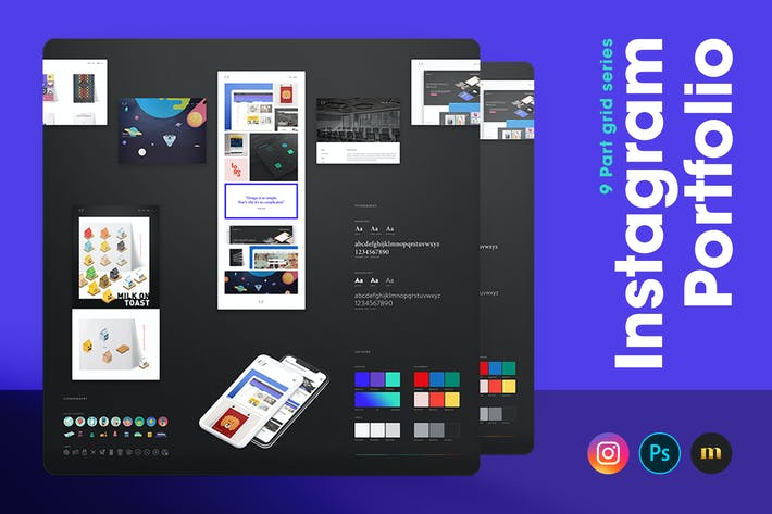 Thumbnail for Instagram Portfolio - 9 Part grid series