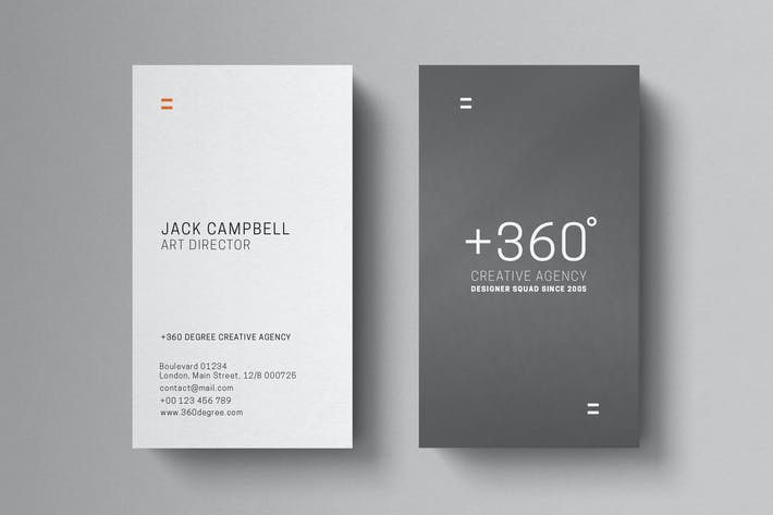 Thumbnail for Minimal Grey Business Card Template