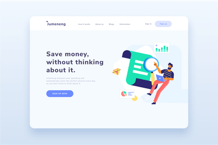 Business Analytic Landing page  Illustration