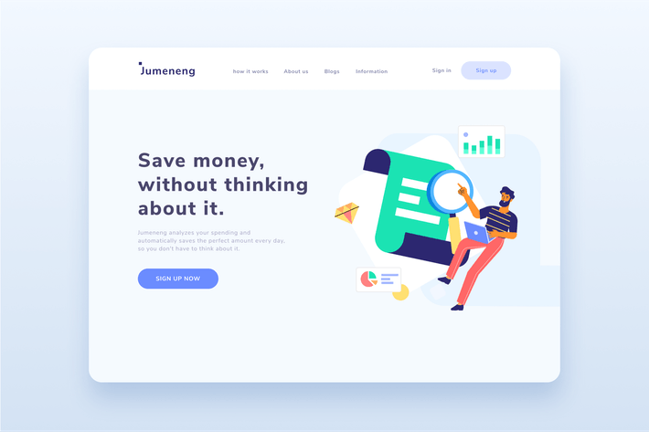 Thumbnail for Business Analytic Landing page  Illustration