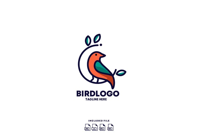Thumbnail for Bird Logo Design Template