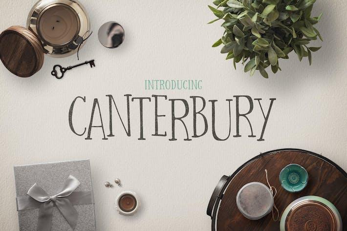 Cover Image For Canterbury Font + Bonus Mockups