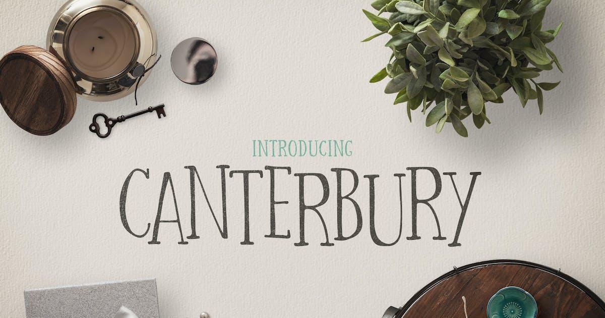Download Canterbury Font + Bonus Mockups by DesignPanoply