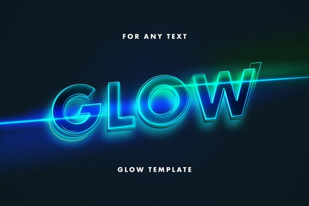 Glow: Neon Lettering Text Effect