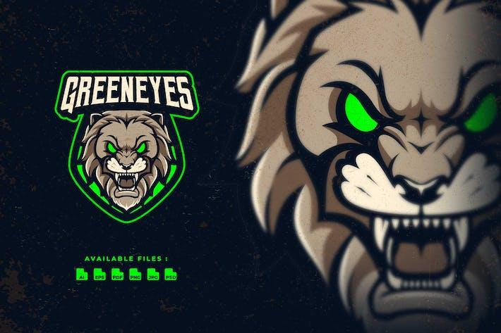 Greeneyes Lion Esport Logo