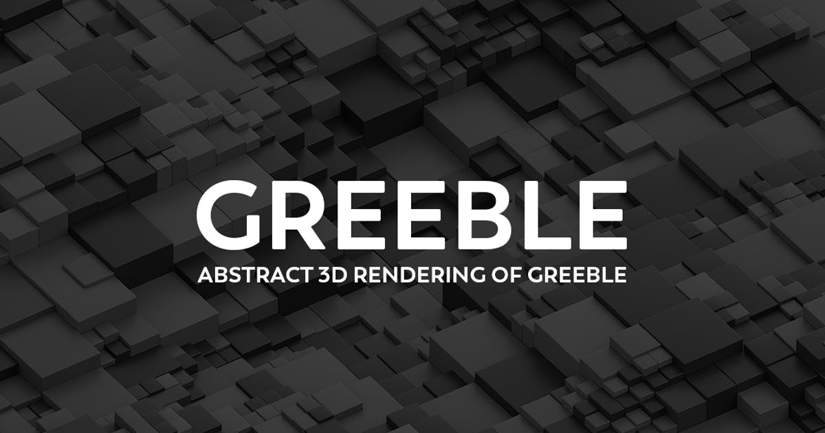 Download Abstract 3D Rendering Of Greeble by mamounalbibi