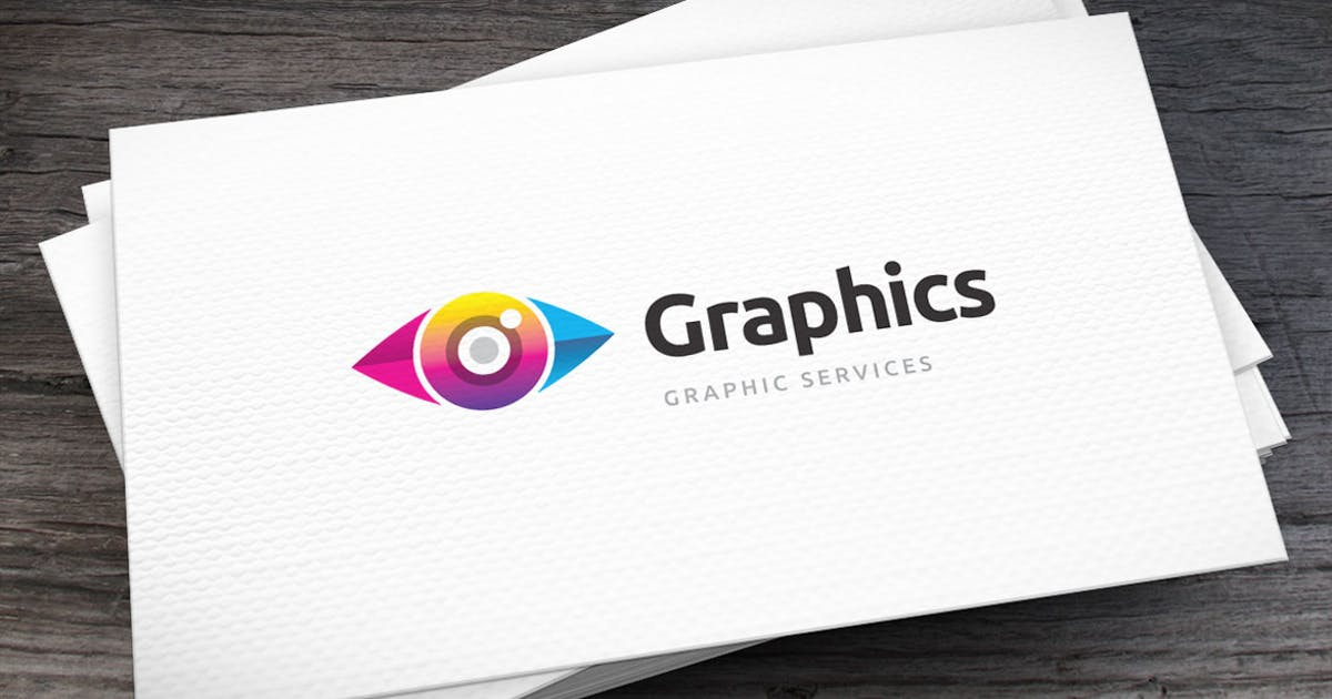 Colored Eye Logo Template by empativo