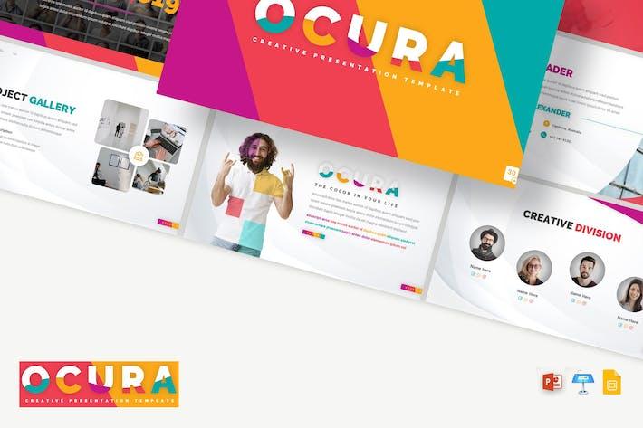 Thumbnail for Ocura - Kreative PPTX/gSlides/SchlüsselVorlage