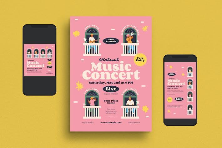 Thumbnail for Virtual Music Concert Flyer Set