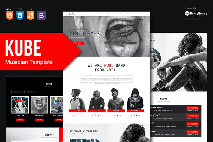 Thumbnail for KUBE - Musician, DJ, Band, Music HTML Template RS