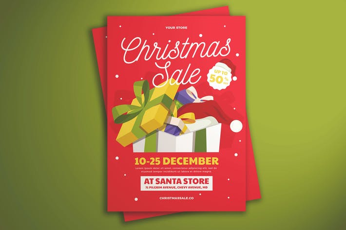 Cover Image For Christmas Sale Flyer Vol. 02
