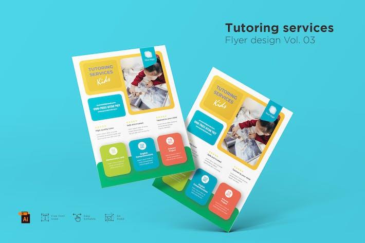 Tutoring Services Flyer Design Vol. 03