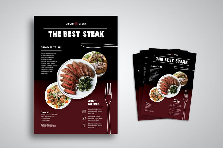 Thumbnail for Steak Flyer Promo Template