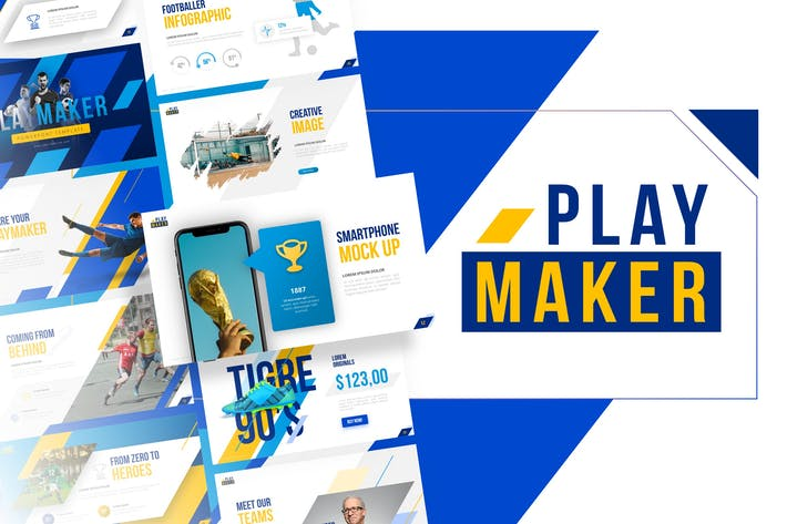 Thumbnail for Playmaker - Football Powerpoint Template