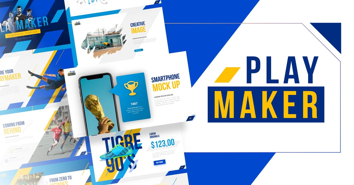 Download Playmaker - Football Powerpoint Template by RRgraph