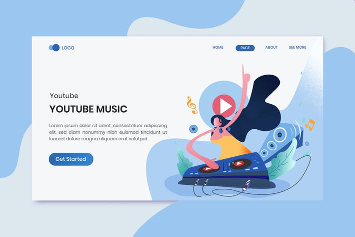 Thumbnail for Youtube Music Marketing Landing Page