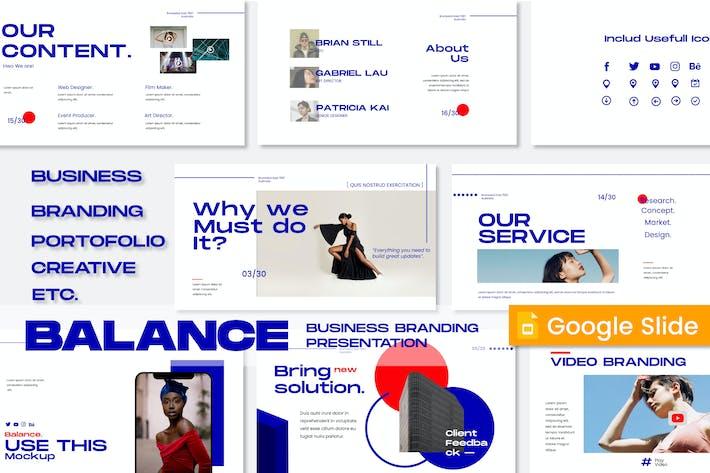 Balance Business Branding Google Slide - JJ