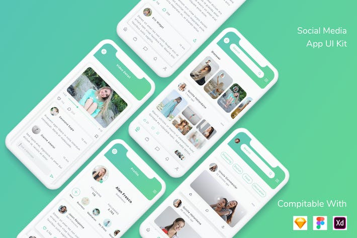 Thumbnail for Social Media App UI Kit
