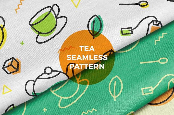 Thumbnail for Teeblatt Topf Tasse Nahtloses Muster