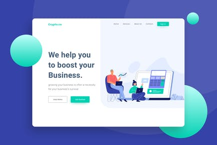 Accounting Website Landing Page Illustration