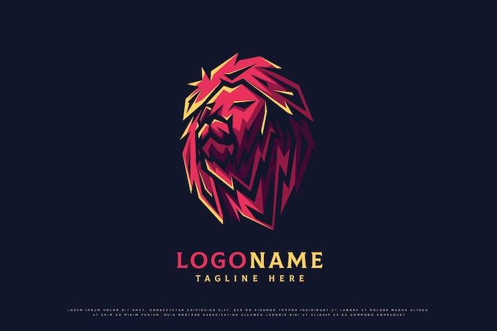 vector illustration of a lion logo