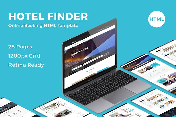 Hotel Finder - Online Booking HTML Website Templat