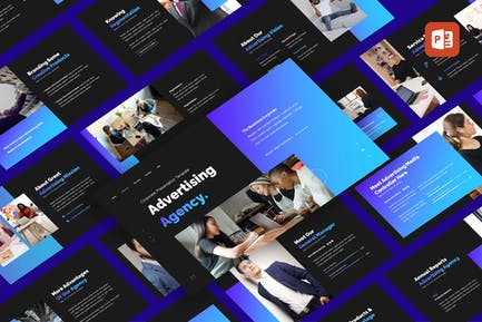 Advertising Agency - Business PowerPoint Template
