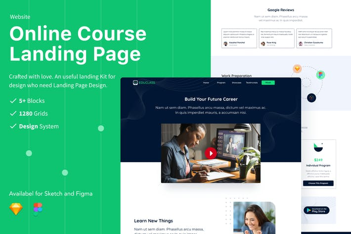 Thumbnail for Online Course - UI Landing Page