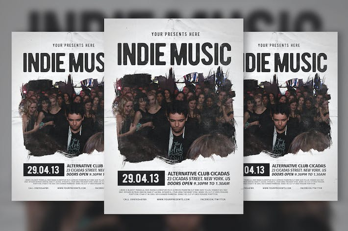 Thumbnail for Indie Music Flyer & Poster