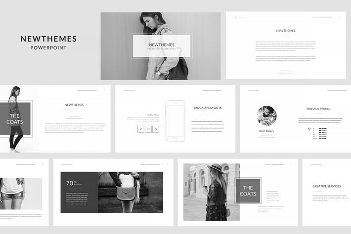 Thumbnail for Newt Powerpoint Template