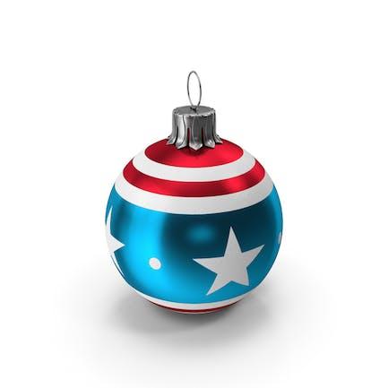 Weihnachtskugel Amerikanische Flagge