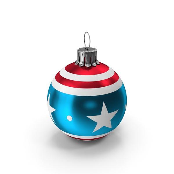Christmas Ball American Flag