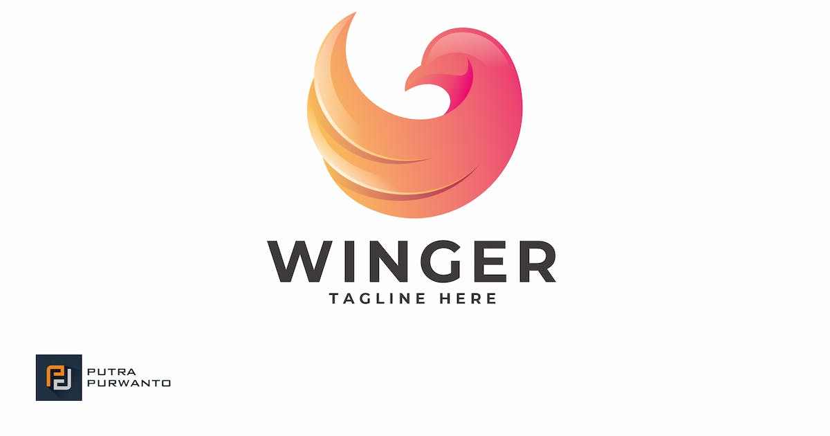 Download Winger - Logo Template by putra_purwanto