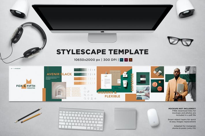 Thumbnail for Stylescape / Moodboard Template