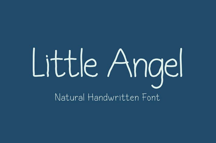 Thumbnail for Little Angel - Innocent Handwritten Font