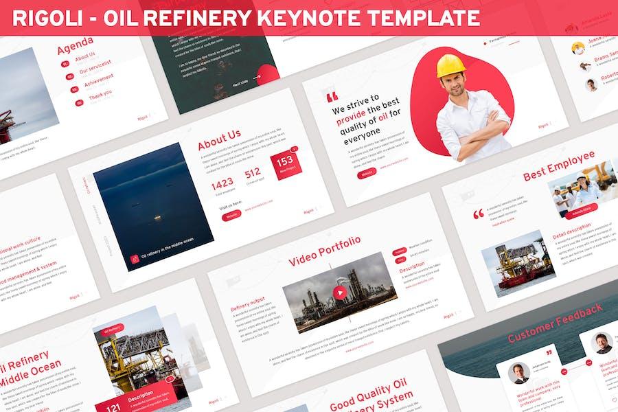 Rigoli - Oil Refinery Keynote Template