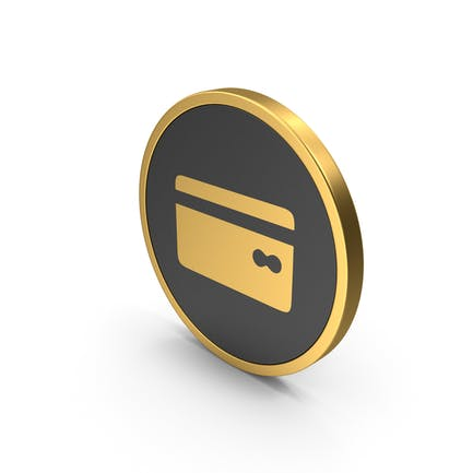Gold Icon Bank Card