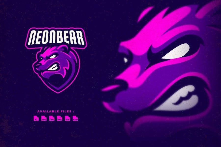 Neon Bear Sport and Esport Logo