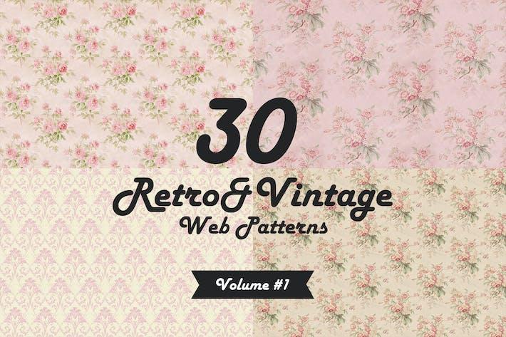 Thumbnail for 30 Retro&Vintage Patterns Vol1