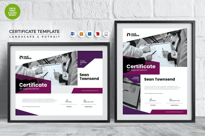 Thumbnail for Professional Certificate Template Vol.32