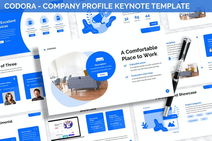 Thumbnail for Codora - Company Profile Keynote Template