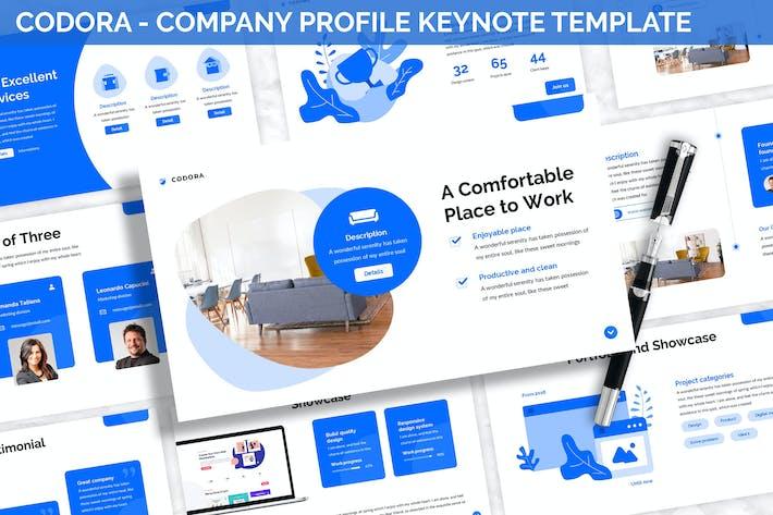 Thumbnail for Codora - Company Profile Keynote Template